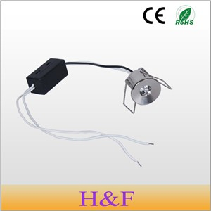 HoneyFly  3pcs/lot 1W 220v  Mini Led Cabinet Light LED Lamp Mini Led Downlight With Led Driver For Wine Cabinet Show Case