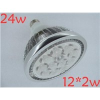 NEW 3pcs/lots Fins shell LENS COVER with nice power,24w e27 12*2w led par light/led par38 lamp bulb,led spotlights