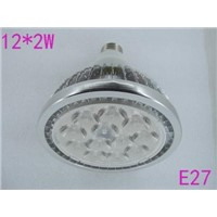 NEW 1pcs/lots Fins shell LENS COVER with nice power,24w e27 12*2w led par light/led par38 lamp bulb,led spotlights
