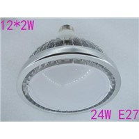 NEW 1pcs/lots Fins shell white cover with nice power,24w e27 12*2w led par light/led par38 lamp bulb,led spotlights