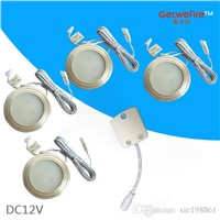 Best type DC 12v 4pcs/lots 1.5W 100LM with 3pcs 5630 type leds,LED Puck/Cabinet Light,LED spotlight+1PC connector line