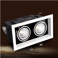led cob lamp 24w  led bean pot lamp double slider 360 adjustable 24w led ceiling spotlight grille lamp  AC 85-265V