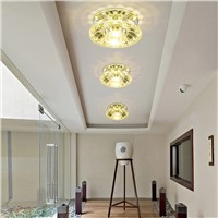 3W Led lighting ceiling light crystal lamp aisle lights led spotlight