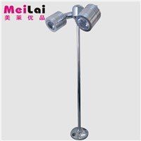 Characterized led counter lights 2w double slider jewelry pole counter lamp gold jewelry showcase spotlights