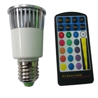 5W RGB E27 LED spot light Remote Control Colorful Change Lighting Lamp X5