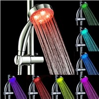 2017 New Handheld 7Color LED Romantic Light Water Bath Home Bathroom Shower Head Glow