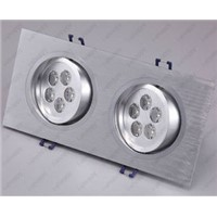 10W 2X5W 10 LED Light Ceiling Downlight Fixture Bulbs Grid Lamp Warm Pure White