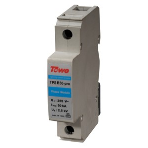 TOWE AP B50-PRO 2P Single-phase power Class B protect Gap discharge 2 Modules Iimp 50KA 10/350 Up 2.0KV lightning arresters