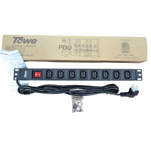 "TOWE EN10/I809K 10A 8 WAYS IEC320 C13 WITH SPD  PDUs 19"" Cabinet socket  Power distribution Units"