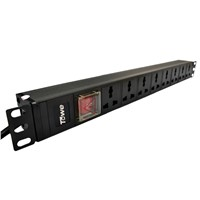 "TOWE EN10/W801K 10A 8 WAYS GB1002 universal with on &off switchPDUs 19"" Cabinet socket  Power distribution Units"