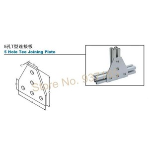 Strong Corner Angle Bracket Connection Joint Strip Board for Aluminum Profile 2020 3030 4040 4545 with 5 holes