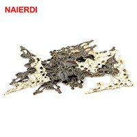 NAlERDI Angle Corner Brackets Gold Bronze 40mm Notebook Cover For Menus Pasting Box Photo Frame Furniture Decorative Protector