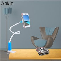 Aokin 360 Degree Phone Holder Universal Flexible Lazy Bracket For iPad Mini Air For iPhone 6 Desktop Bed Tablet Stands Long Arms