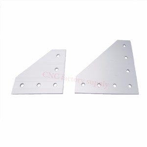 Hot sale anodized 90 Degree Joining Plate with 5 OR 7 Holes  For EU Standard  Aluminum Profile Slot for Kossel DIY CNC