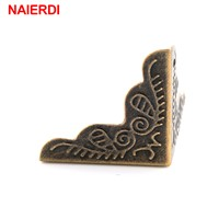 10PCS NAIERDI 3.6x2.4cm Luggage Case Box Corners Brackets Decorative Corner For Furniture Decorative Triangle Rattan Carved