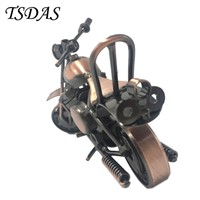 15.5*8.5cm Cool Bronze Motorcycle Model Metal Crafts For Home Decor Model 2017 New Year Articles