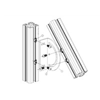 3030 4040 Aluminum Profile Joint Angle Bracket with Free Angle Degree