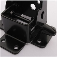 Hardware chair Corner Brackets black Folding hinge of table leg 4pcs