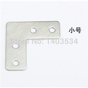10pcs 39*39*15mm stainless steel plain angle bracket satin finish frame board support