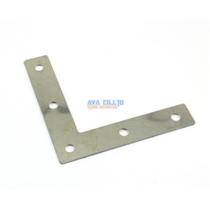 16 Pieces 80*80mm Stainless Steel L Shape Flat Corner Brace Bracket