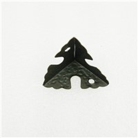 Luggage Case Box Corner Brackets Decorative Corner For Furniture Decoration Triangular Rattan Carved Bronze Tone 25mm,20Pcs