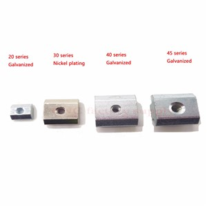 T Sliding Nut Block Square Nuts Nickel plating  Aluminum For EU Standard 3030 Aluminum Profile Slot for Kossel DIY CNC