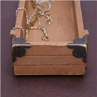 12Pcs/Set Hardware Antique iron Jewelry Gift Box Wood Case Decorative Feet Leg Corner Protector