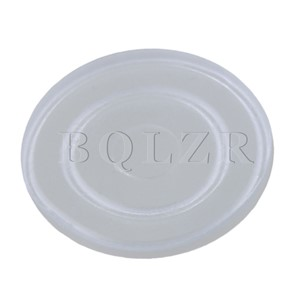 BQLZR Rubber Transparent Round Non Slip Dash Mat Pads for Office Furniture Glass Table Tea Table Pack of 500