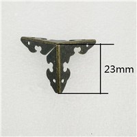 Antique legs Wooden Box package Hardware Corner Brackets decoration Four sides protection,Iron Corners,23mm,6Pcs