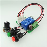 PWM DC motor speed controller 6V12V24V reversing switch electric motor controller button pusher