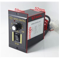220V AC motor speed controller 6W-120W single row of small motor control switches
