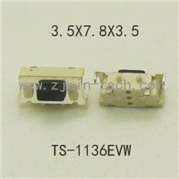 50PCS High quality SMT 2PIN Tactile Tact Push Button Micro Switch Momentary 3X6X3.5MM Side Push