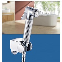 Fashion Bathroom Polished Chrome Finish Brass Spray Gun Handheld Bidets + Shower Hose +Holder