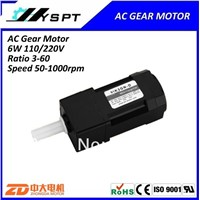 induction AC 6W single phase 110V 50Hz 60rpm gear motor