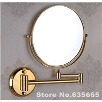 Antique Gold Double Side 8 Bath Mirror Shave Makeup Extend Arm 3x Magnifying Espelho Do Banheiro Bathroom Sanitary Accessories