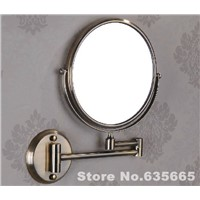 Wall Mounted Antique Bronze Double Side 8 Bathroom Mirror Shave Makeup Extend Arm 3x Magnifying Espelho Do Banheiro Accessories