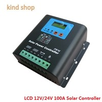 12V 24V auto work 100A Solar Controller,Off-grid PV power controller for solar system