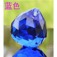 30PCS/lot, blue, 20mm crystal faceted ball,crystal chandelier ball for chandelier parts&wedding,X-MAS event party supplie