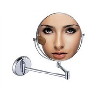 "Modern Copper Chrome 8"" Double Side Bath Mirror Shave Makeup Extend Arm 3x Magnifying Espelho Do Banheiro Bathroom Accessories"