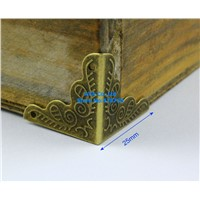 40 Pieces Antique Brass Jewelry Box Corner Gift Box Corner Protector  25mm