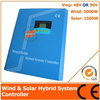 48V/96V 6500W Hybrid Controller with LCD Display, 5000W Wind Power, 1500W Solar Power