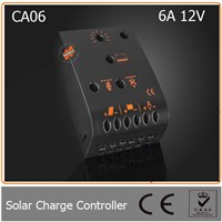 6A 12V PWM Solar Charge and Discharge Controller Suitable for Small Solar Systems with need of Low Battery Disconnect Feature