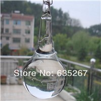2pcs/lot ,45x115mm crystal water drop pendant  ,crystal glass chandelier pendant for DIY curtain , chandelier parts