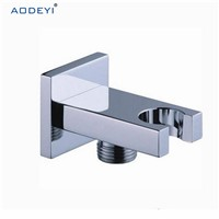 Brass Wall Mounted Hand Held Shower Holder Shower Bracket & Hose Connector Wall Elbow Unit Spout Water Inlet Angle Valve