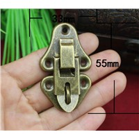 20Pcs 55 * 33 Antique Wooden Box Hasp Lock Buckle Gift Box Hanging Hardware Lock Buckle High Quality Buckle Buckle Black Box