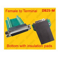 3pcs/lot DB25 Female 25 Pin Port Signals Breakout Board,DB25 Female 25 Pin Port terminal adapter plate