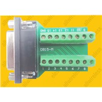DB15 Female 15 Pin Port Signals Breakout Board,DB15 Female 15 Pin Port terminal adapter plate