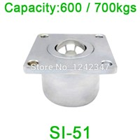 2pcs 51mm ball size SI-51 ball transfer unit SI51 600kgs load capacity Heavy duty machined solid steel ball roller caster