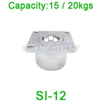 SI-12 Steel ball transfer unit bearing roller SI12 flange mounting 20kgs heavy load capacity duty Ball Bearing Wheel Caster