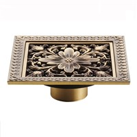 12*12cm  New Arrival Antique Bronze Finish Fashion Design Euro Square Floor Drain Shower Drain Bathroom Furniture  HJ-8701T